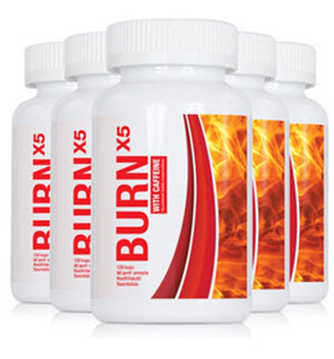 5 pack BURN x5 med koffein