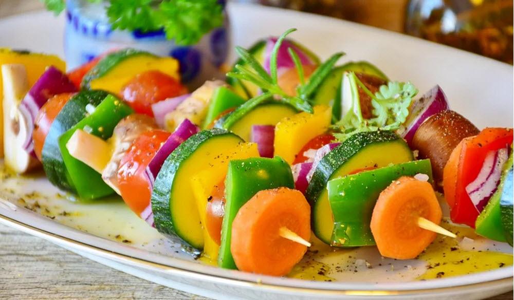 vegetariskt grillspett från recept i matkasse